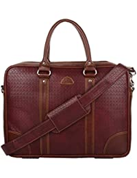 K London Leatherite Handmade Maroon Unisex Bag Cross Over Shoulder Messenger Bag with Laptop Compartment (1803_Maroon)
