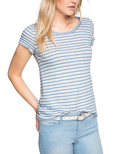 ESPRIT Damen T-Shirt 066ee1k014-Marinelook Mehrfarbig (LIGHT BLUE 440)