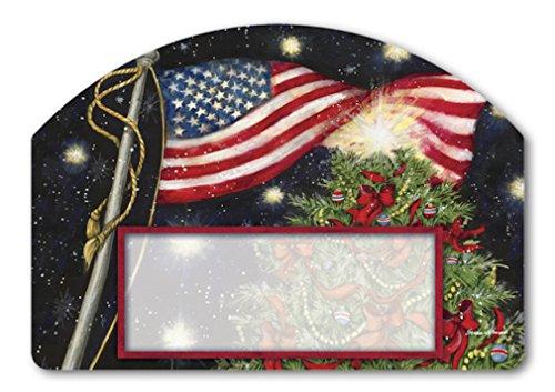 Patriotische Weihnachten Yard DeSign Adress-Schild