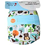Kids Happy All-in-One Bottom-Bumpers Cloth Diaper With 1 Cloth Diaper Pad(OWL)