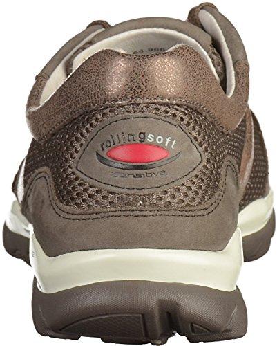 Gabor Rollingsoft, Sneakers Basses Femme Marron (fumo/argento 28)