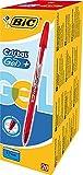 BIC Gelroller Cristal Gel +, mit Kappe, 0.35 mm, Schachtel  20 Stück, rot