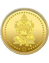Muthoot Precious Metals Corporation 24k (999) Yellow Gold Lord Ganesha Idol Coin - 4 gm
