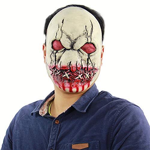 Halloween KostüM Party Latex Bloody Horror Maske Cosplay Geeignet füR Jeden Erwachsenen Mann/Frau/Kind (Beste Halloween-kostüme Uk Herren)