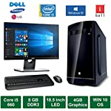 "Desktop PC - Intel Core I5 660 Processor / 18.5"" LED Monitor / Windows 10 Pro / 4GB Graphics / 500GB HDD / DVD / WiFi / Keyboard / Mouse"