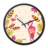 Chumbak Garden Flamingo Wall Clock