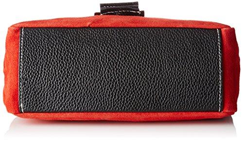 Chicca Borse 10027, Borsa a Mano Donna, 26.5 x 18 x 12 cm (W x H x L) Rosso