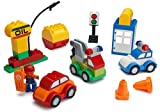 Play Build Car Creator Building Blocks Set – 52 Pieces – Includes Mechanic Minifigure, Garage Accessories & Base Parts to Create a Police Car, Oil Rig, Tow Truck & More – Compatible with LEGO DUPLO
