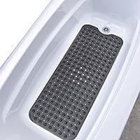 Slip-X Solutions Alfombrilla de baño de vinyl extra larga Negro translúcido