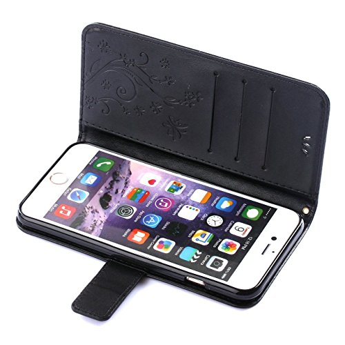 iPhone 6 Coque, LANDEE Ultra-mince PU Cuir Etui Portefeuille pour iPhone 6S / iPhone 6 Housse Case (6S-P-0403) 6S-P-0406