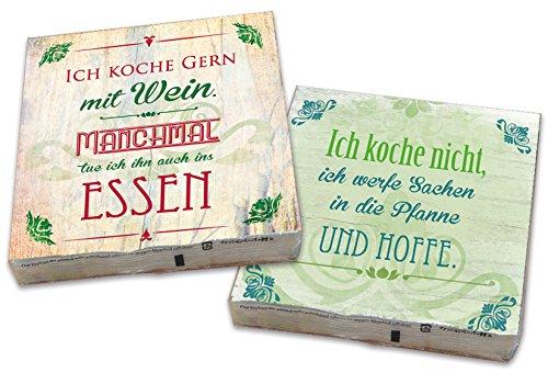 (2er Set 40 St. Spruchservietten Servietten für Party Geburtstag Hochzeit Tissueservietten 33 x 33 cm 4 lagig)