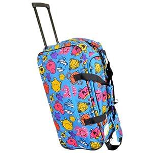 Mr Men 2 Wheeled Luggage Holdall Trolley Case 65L 67cm x 35cm x 33cm from Mr Men