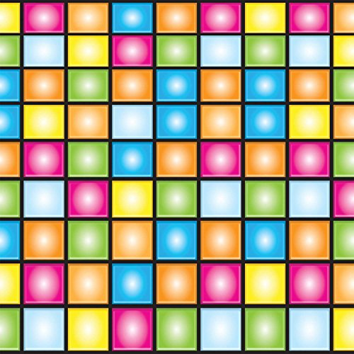 Preisvergleich Produktbild Set mit 6 LED disco decors Rasenkante 9 m x 0,60 m