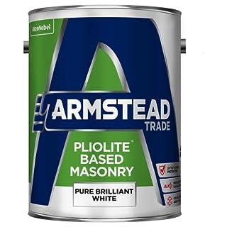 Armstead Trade Pliolite Masonry Paint Brilliant White 5 Litres