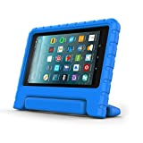 Surom Kids Case for All-New Amazon Fire 7 2017,ShockProof Case Light Weight Case Protection Cover Handle Stand for Children for Fire 7 inch Display Tablet (7th Generation - 2017 Release),Blue