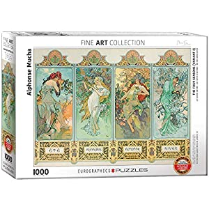 Puzle Eurographics «Alphonse Maria Mucha Four Seasons» (1000 Piezas