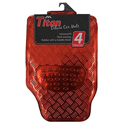 jvl-titan-set-tappetini-auto-design-metallico-con-lato-inferiore-in-gomma-colore-rosso