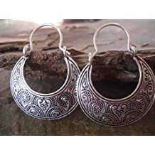 ✿ PENDIENTES TRIBALES BOHO ✿ decorados lateralmente