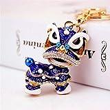 JINQD Home Schlüsselanhänger Dekoration Chinesischen Stil Kirin Anhänger Metall Schlüsselanhänger Handtasche Schlüsselbund Geschenk