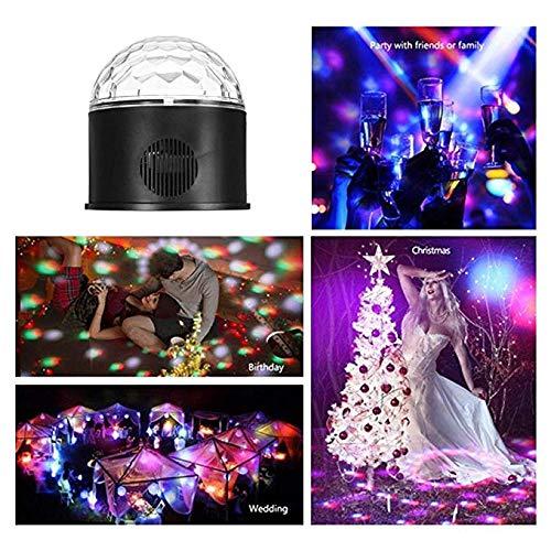 YAMADIE 9 Bluetooth Farbe Kristall magische Kugel Bühne Licht LED-Leuchten Ton MP3 automatische Farb-LED Kristall magische Kugel Bühne Licht KTV Disco-Laser-Fernbedienung - Farb-led-laser