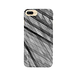 iSweven Strip_Black design printed matte finish multi-colored back case cover for Apple iPhone 7 plus