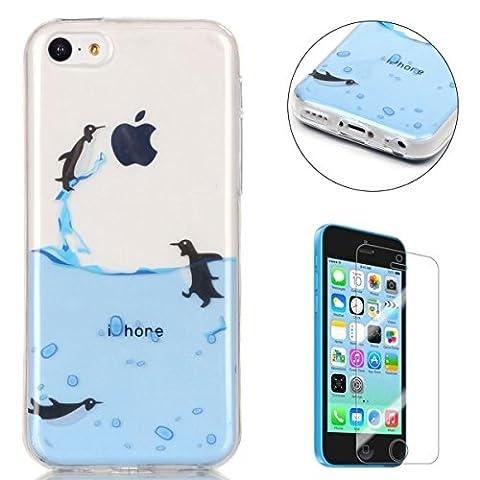 iPhone 5C Hülle Transparent Weiche Silikon Schutzhülle,Weicher Flexibel Klar Gel