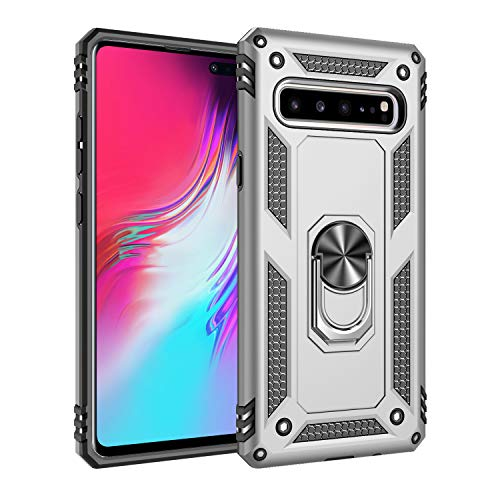 Wubaouk Samsung Galaxy S10 5G Hülle with Ring Holder, Rotating Kickstand Stand for Car Magnetic Mount Slim Soft Shockproof Silicone Gel TPU Phone Cover for Samsung Galaxy S10 5G Slim Mount Speakers