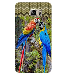 ColourCraft Colourful Parrots Design Back Case Cover for SAMSUNG GALAXY NOTE 7
