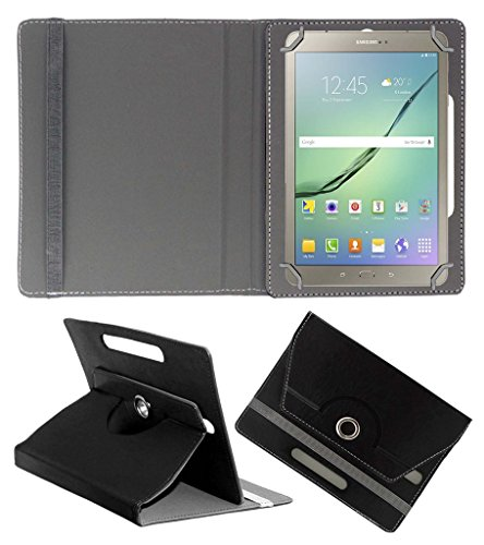 Acm Rotating 360° Leather Flip Case For Samsung Galaxy S2 T815 Cover Stand Black  available at amazon for Rs.189