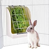 Ocamo Essen Container Kaninchen Gras Feeder Fr¨¹hling Stroh Rahmen Gras Korb kleine Haustier Meerschweinchen Totoro Cage Zubeh?r feste Essen Container Sch¨¹ssel wei?e