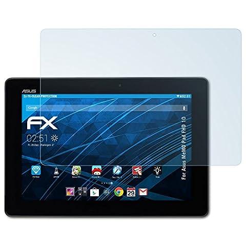 Asus MeMO Pad FHD 10 Schutzfolie - 2 x atFoliX FX-Clear kristallklare Folie Displayschutzfolie