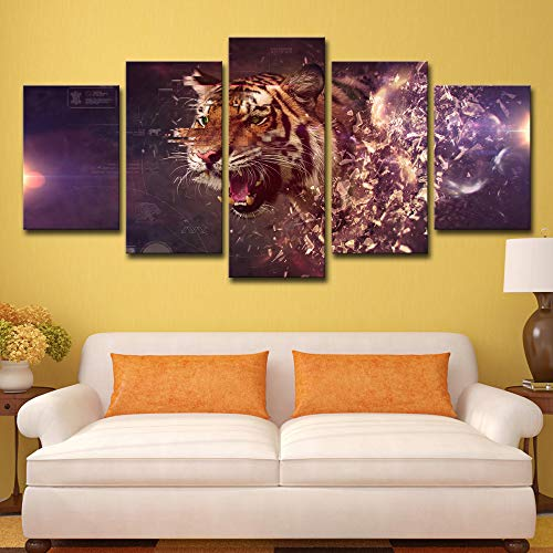Printed Apex Predator Animals Tiger Painting Children's Room Decor Print Poster Picture Canvas Painting no frame M: 10X15-2P  10X20-2P  10X25-1P -