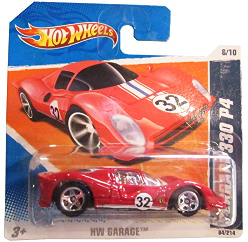 2011 Hot Wheels SHORT CARD HW Garage Ferrari 330 P4 Red #84/244 by Mattel