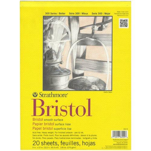 pro-art-papel-strathmore-papel-liso-de-bristol-pad-9-pulgadas-305-x-305-cm-20-hojas