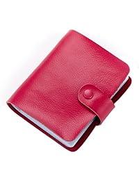 Tarjetero piel Esdrem DNI libro negocio 60 cuenta portatarjetas libro nombre, color hot pink