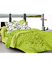 Ahmedabad Cotton Superior 160 TC Cotton Double Bedsheet with 2 Pillow Covers - Floral