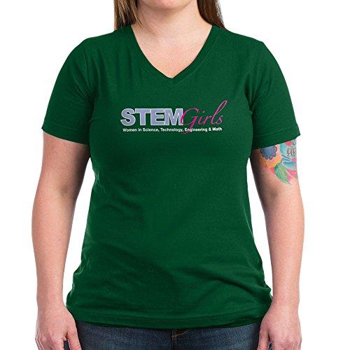 9c064735 CafePress Stemgirls Logo Gear Women's V Neck Dark T Shirt Womens Cotton  V-Neck T