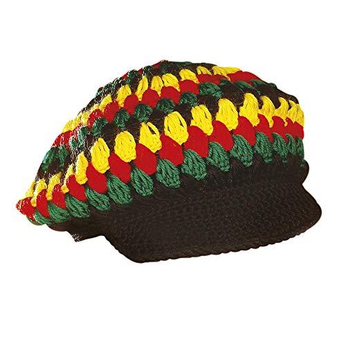 Widmann Reggae Häkelmütze, Mehrfarbig, Einheitsgröße