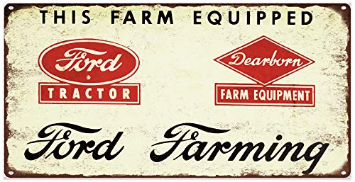 Yohoba Ford Dearborn Farming Metallschild Repro Traktor Garage Shop 6x12