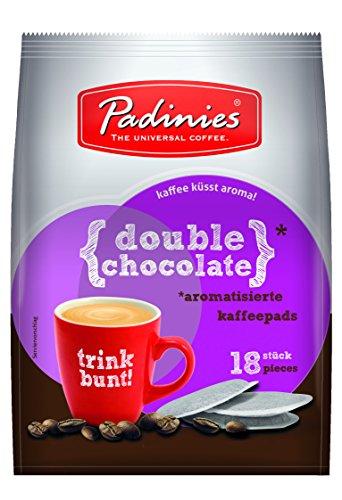 Minges Padinies Kaffeepads Double Chocolate, Kakao Schokolade, 18 Pads
