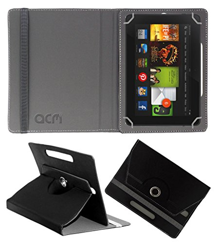 Acm Rotating 360° Leather Flip Case For kindle Fire Hd 7 2012 2nd Gen Tablet Cover Stand Black  available at amazon for Rs.149