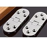 Dometool UK, cerniera per tavolo pieghevole, per ante mobili, per porte, per fai da te, colore argento, 2 pezzi