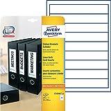Avery Zweckform C32266-25 Ordner-Einsteck-Schilder 25 Blatt weiß
