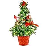 The Twiddlers Mini Árbol de Navidad para Escritorio - Decoración pequeño Ideal para Fiestas de Navidad - Mesas - Escritorio - hasta 42 CM