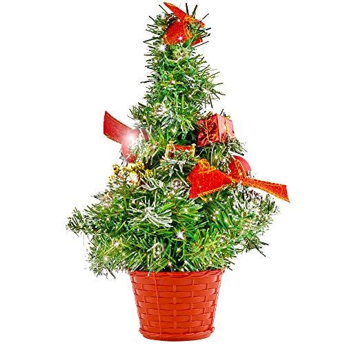 The Twiddlers Saisonale Weihnachten Dekoration Schreibtisch Mini-Baum Künstlicher im Topf Weihnachtsbaum - Ideale Dekoration bei Partys für kleine Flächen - Tische - Schreibtische, bis zu 42 cm