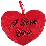 Kleines Plüschherz Rot 'I love you'