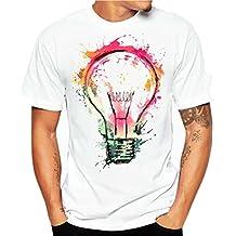 Camisa Hombre, Camisetas casuales de impresión de tallas grandes verano Camiseta de manga corta de