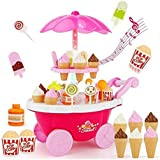 Sweet Luxury Ice Cream Parlour Candy Car Set With Soft Light And Sound For Kids(HCCD Enterprise) (Pink)