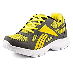Golden Sparrow MenS Grey Mesh Walking Shoes (Tm-Dk-25-07)- 7 Uk