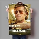 XWArtpic Klassische Neue Film war einmal in Hollywood Wandkunst HD Bild Retro Poster Wohnzimmer Wohnkultur Leinwand Malerei 50 * 70 cm